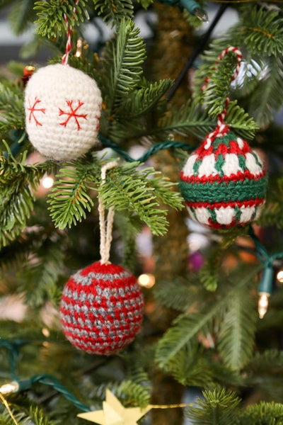 Ornaments Hand-Crocheted Wool Ornaments Set of 3 HO026