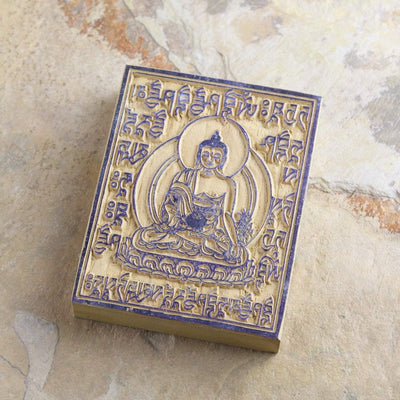 Paper Goods Medicine Buddha Small Wood Print Block PA020
