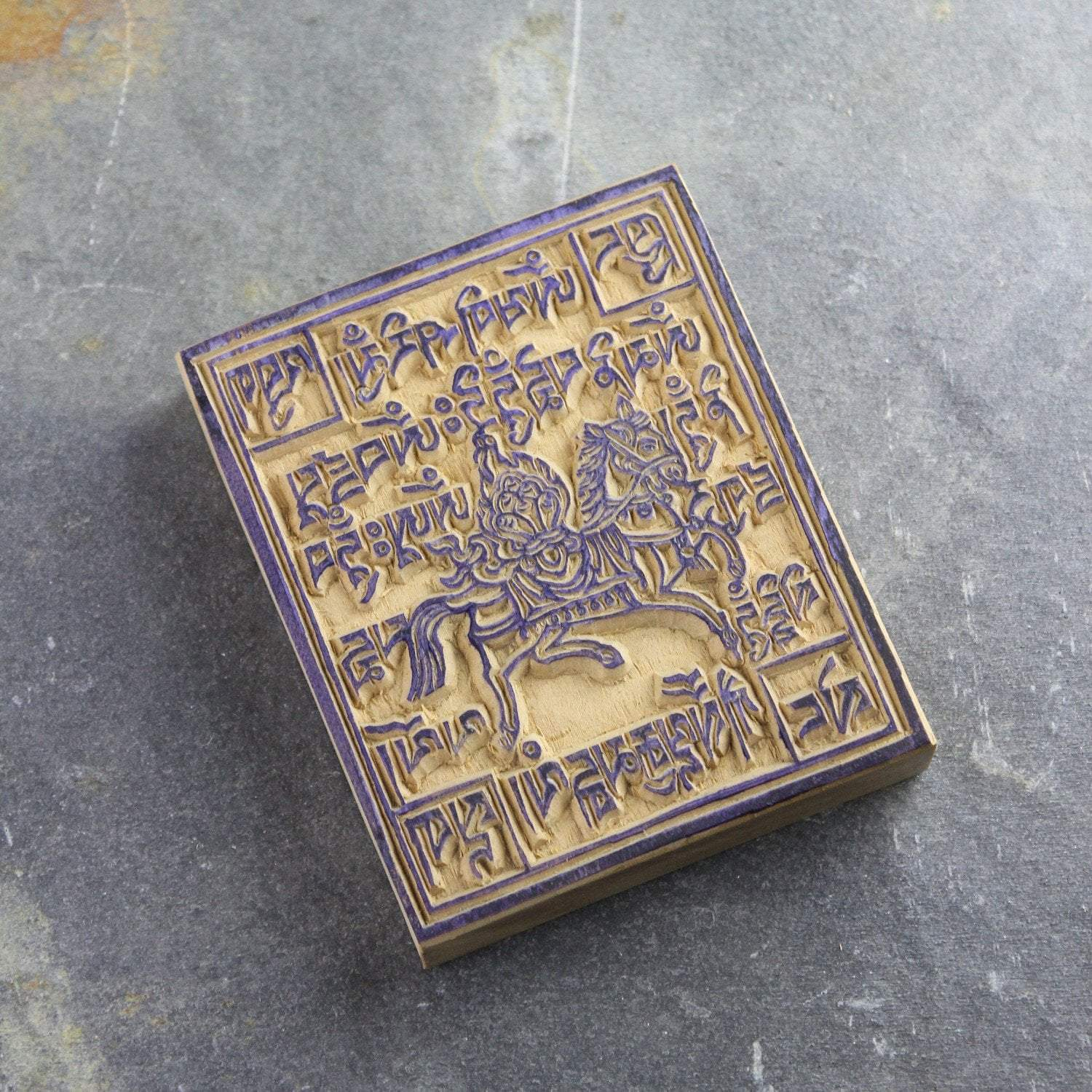 Paper Goods Small Traditional Windhorse Wood Print Block PA019