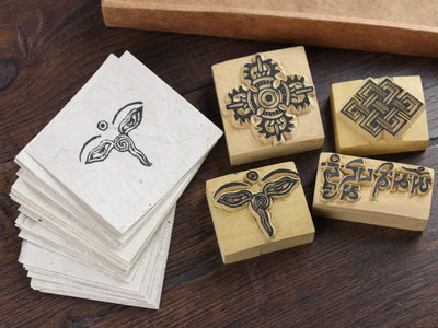 Paper Goods Wood Block Print Stamp Gift Set PA021