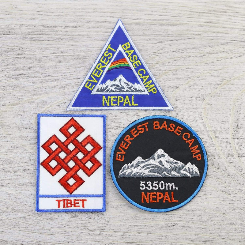 Patches Default Set of 3 Tibet/Base Camp Patches From Nepal ft018