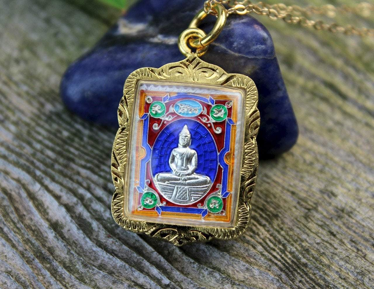 Pendants Beautiful Thai Buddha Amulet jpthai084