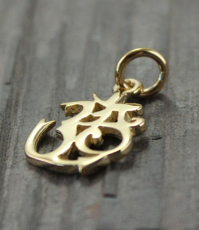 Pendants Default 14k Gold Om Pendant Over Silver jp274