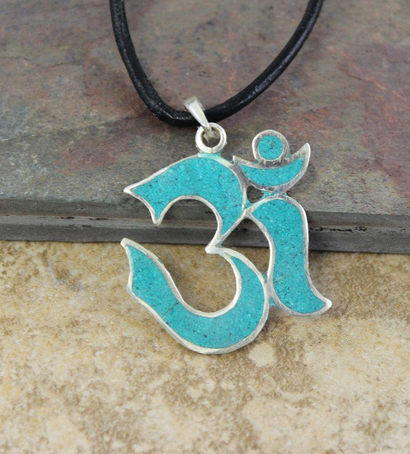 Pendants Default All Turquoise Om Pendant jp255