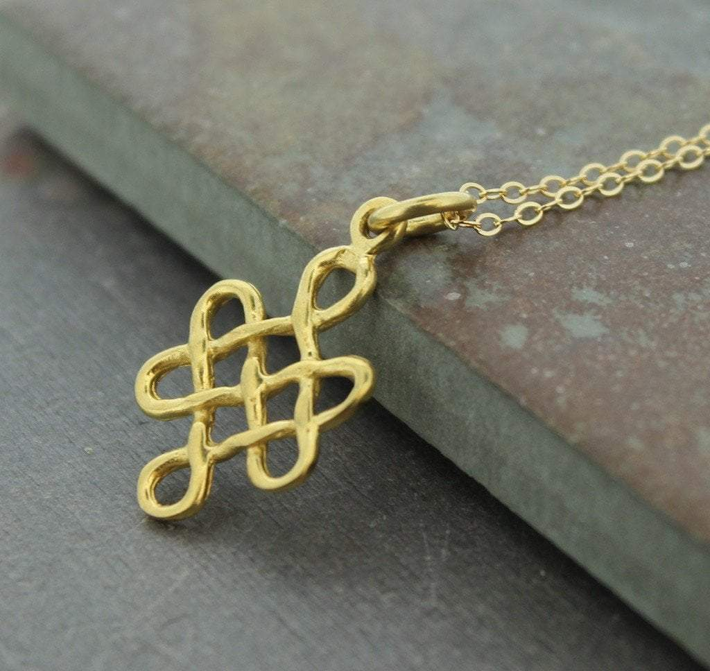 Pendants Default Gold Eternal Knot jp085