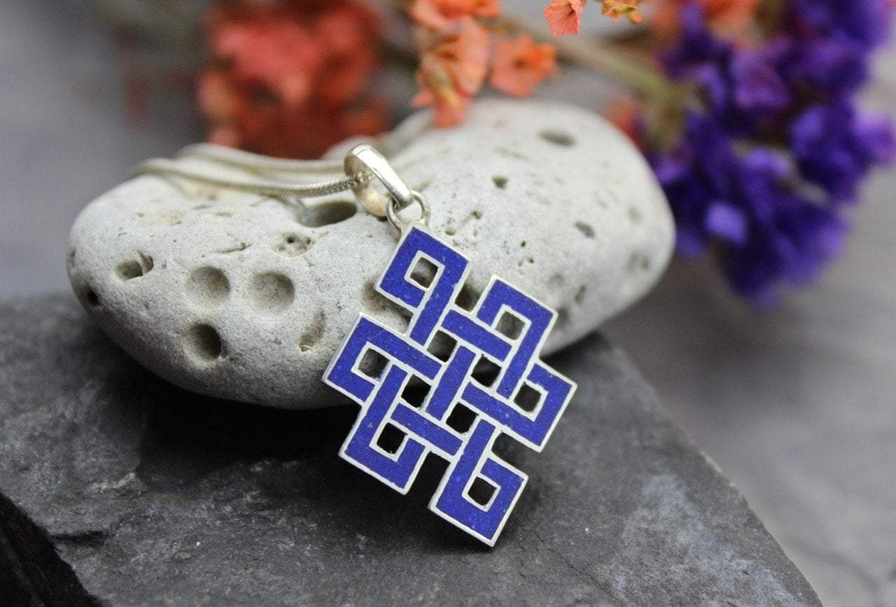 Pendants Default Lapis Eternal Knot Pendant jp375