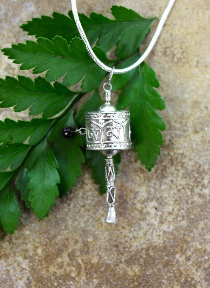 Pendants Default Small Prayer Wheel Pendant jp009