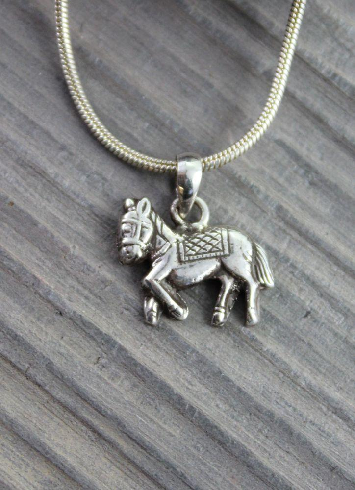 Pendants Default Windhorse Sterling Silver Charm jp199