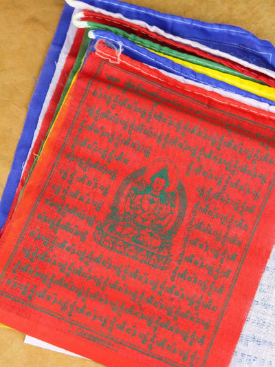 Prayer Flags 5 Roll Set of Mixed Deity Tibetan Prayer Flags PF132