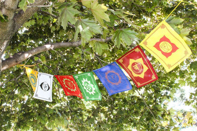 Prayer Flags 7 Chakra Energy Prayer Flags PF077