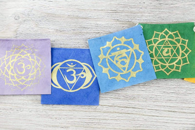 Prayer Flags 7 Chakra Lokta Paper Prayer Flags PF147