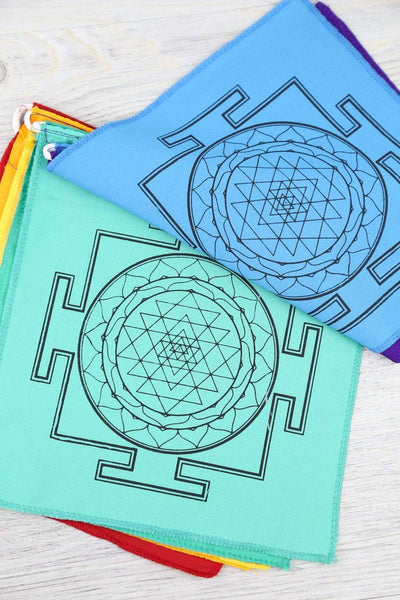 Prayer Flags Chakra Color Sacred Geometry Prayer Flags PF138