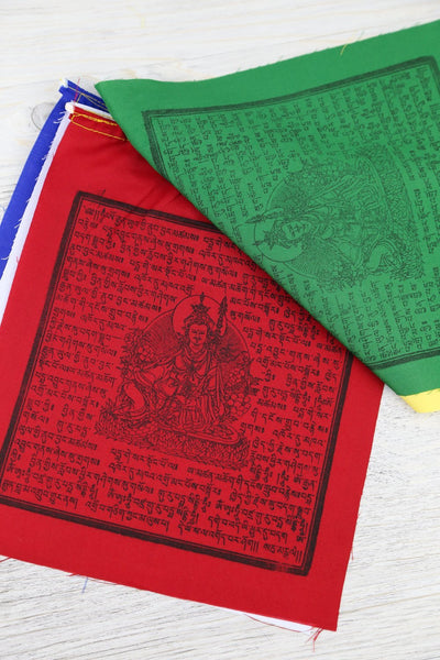 Prayer Flags Default Cotton Guru Rinpoche Set of 5 pf084
