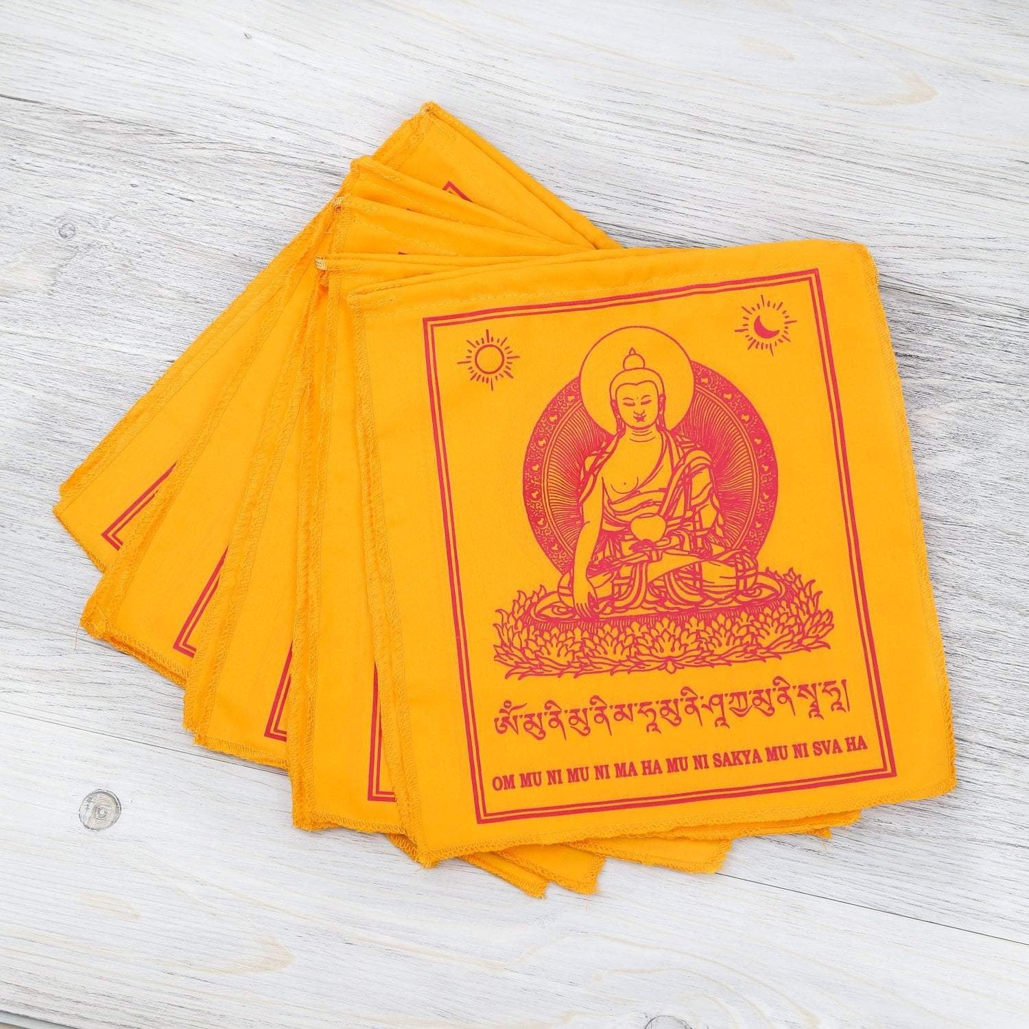 Prayer Flags Default Golden Shakyamuni Buddha Prayer Flags pf105