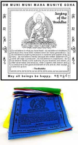 Prayer Flags Default Sayings of the Buddha Flags pf031