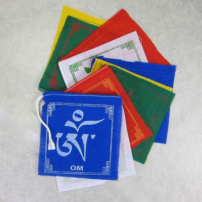 Prayer Flags Default Small Set of 10 Om Mani Prayer flags pf025