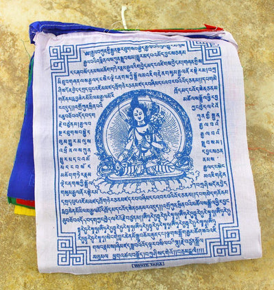 Prayer Flags Default White Tara Prayer Flags Set Of 10 pf067