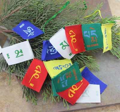 Prayer Flags Default World's Tiniest Om Mani Prayer Flags pf073