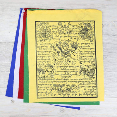 Prayer Flags Extra Large Set of 5 Windhorse Flags pf130