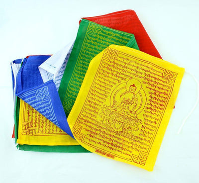 Prayer Flags,New Items,Tibetan Style,Deities Default Set of 10 Tibetan Medicine Buddha Prayer Flags pf063
