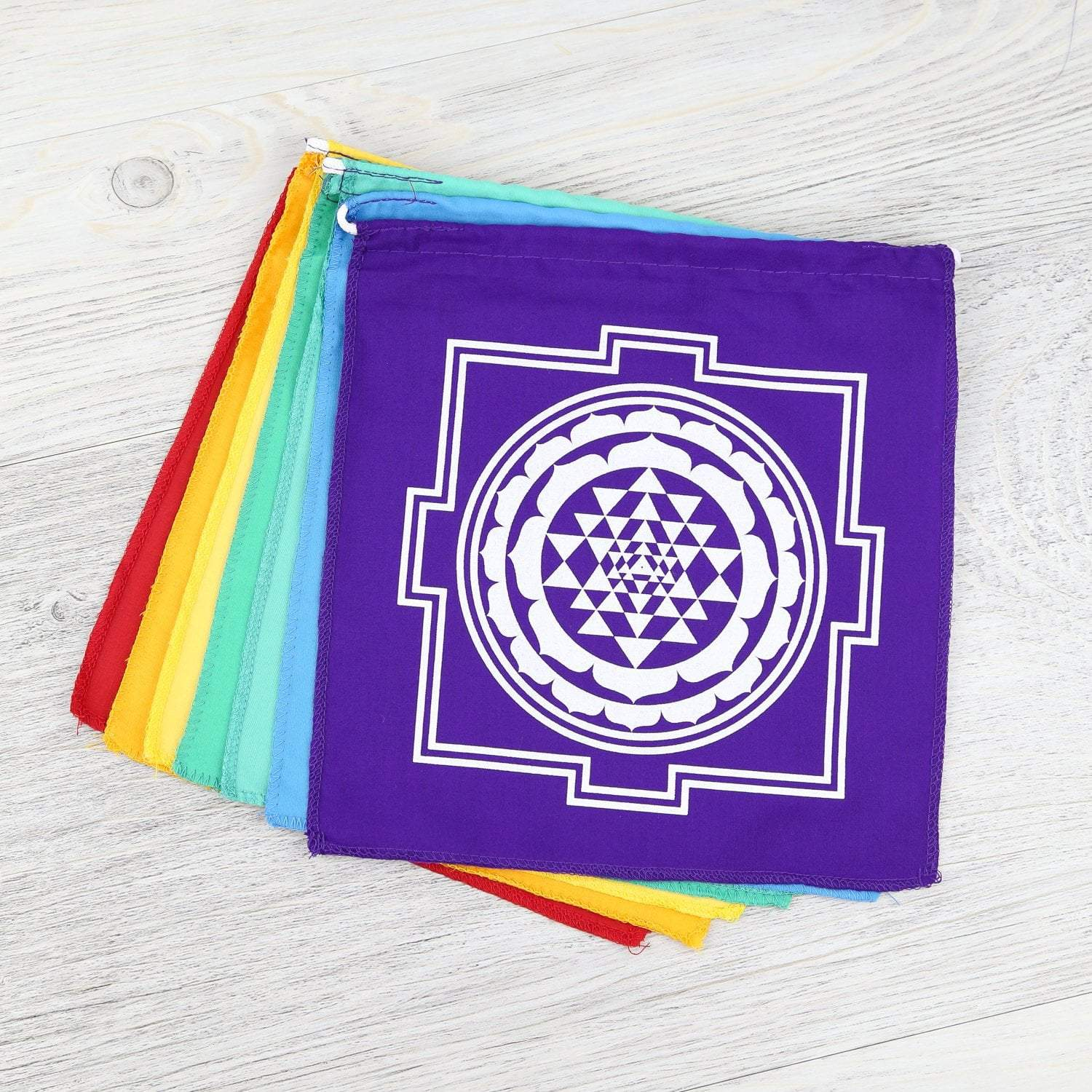 Prayer Flags Sacred Geometry Mandala Chakra Flags PF139