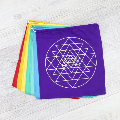 Prayer Flags Sacred Geometry Meditation Prayer Flags PF137