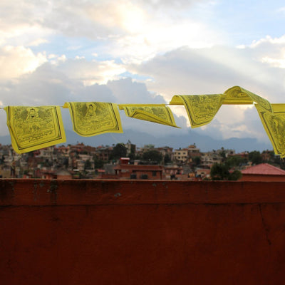 Prayer Flags Yellow Shakyamuni Buddha Prayer Flags PF141