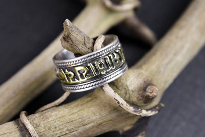 Ring Default Two Color Mantra Ring JR005