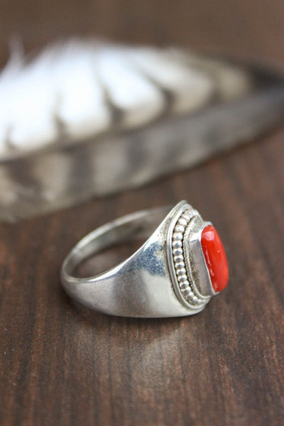 Rings 6 1/2 Antique Coral Passion Ring JR042.65