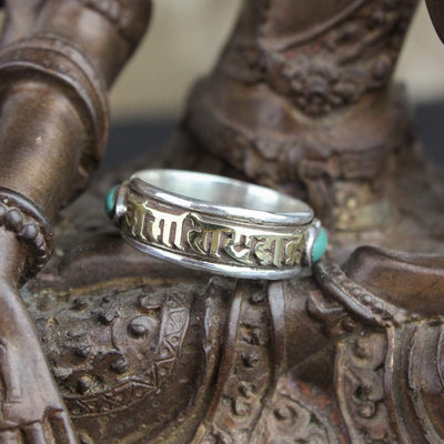 Rings 6 1/2 Spinning Mantra Ring with Newar Script JR238.065