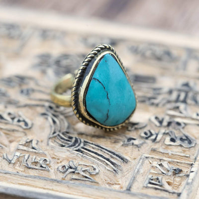 Rings 6 Turquoise Ring Vintage Style JR259.06