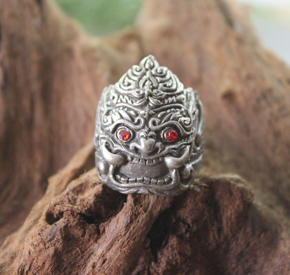 Rings 9 Mens Thai Wrathful Deity Ring jr069-9