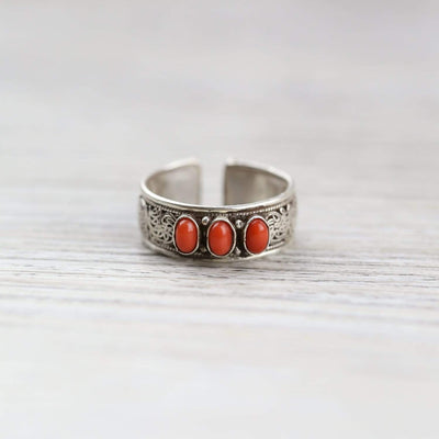 Rings Antique Coral Transformation Ring