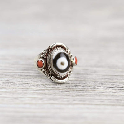 Rings Dzi Bead Wisdom Ring