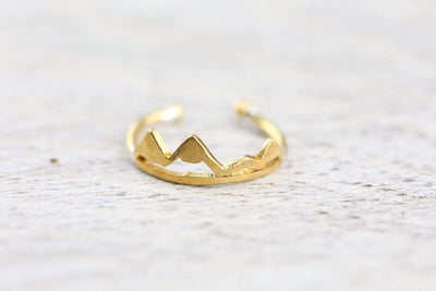Rings Gold Himalayan Peaks Ring JR272.GOLD
