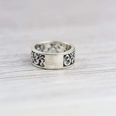 Rings Sanskrit Om Symbol Ring