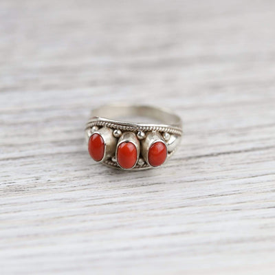 Rings Stone of Purpose Coral Ring