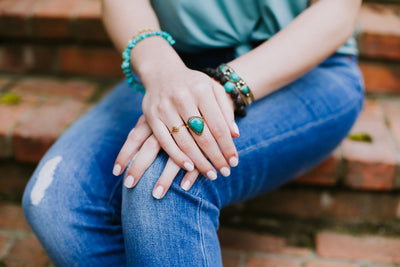 Rings Turquoise Ring Vintage Style