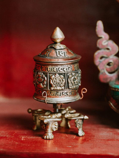 Ritual Items Double Dorje Tabletop Prayer Wheel RP037