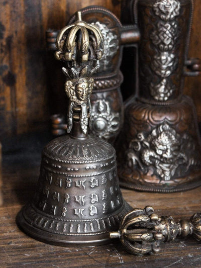 Ritual Items Mantra Bell and Dorje Set with Case RB011