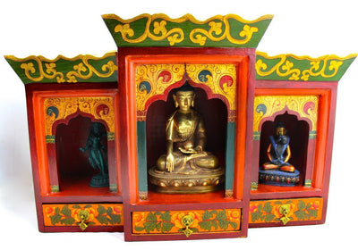 Ritual Items,One of a Kind,New Items Default Three Compartment Wooden Altar un028