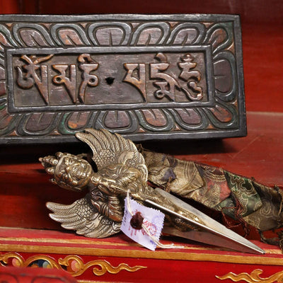 Ritual Items Tibetan Phurba in Wooden Case RT030