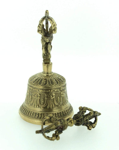Ritual Items,Tibetan Style Default Small Bell and Dorje rb002