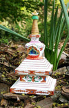 Ritual Items,Tibetan Style Default Wooden Painted Stupa rs004