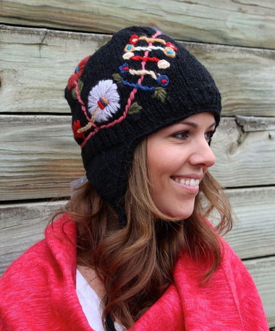 Sale,Gifts,Under 35 Dollars,Tibetan Style Default Our New 100% Wool Flower Hat wo003