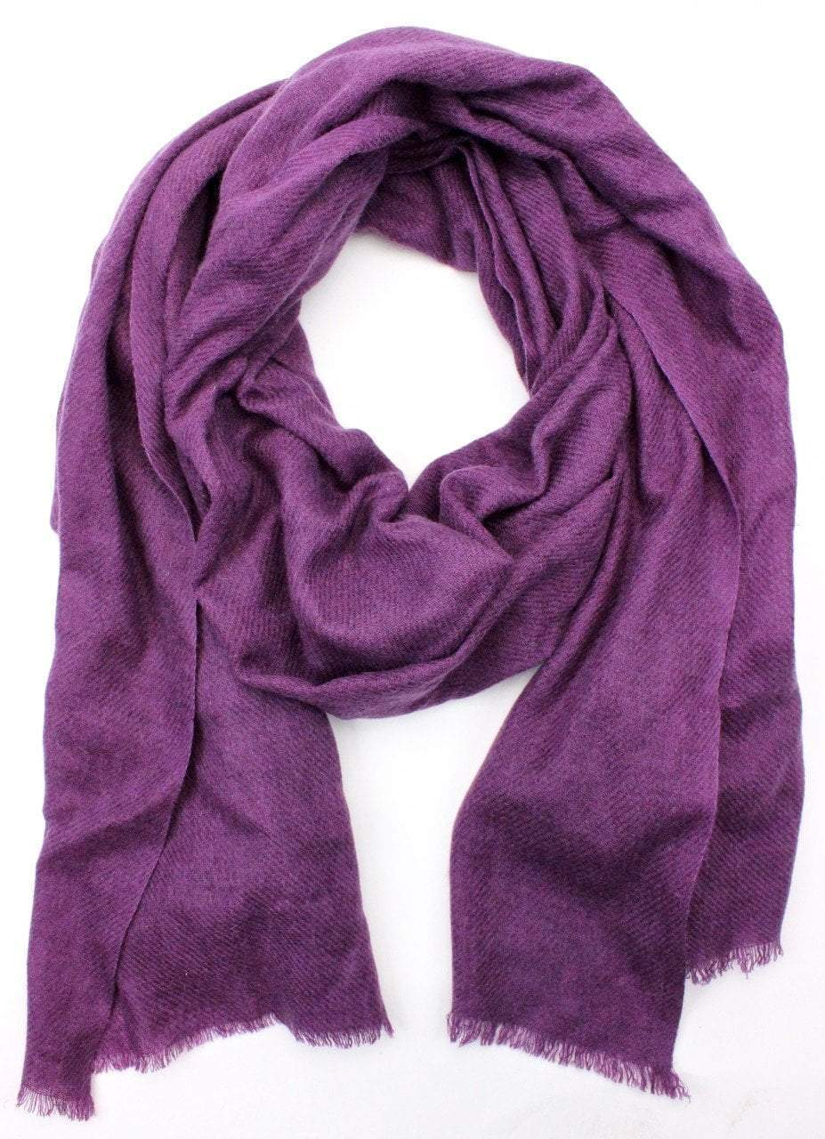 Scarves Default 100% Pashmina Shawl in Dark Purple fb179