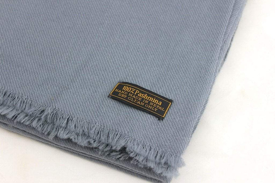 Scarves Default 100% Pashmina Shawl in Light Grey fb123