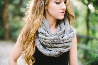 Scarves Default Grey Wool Pocket Scarf wo117