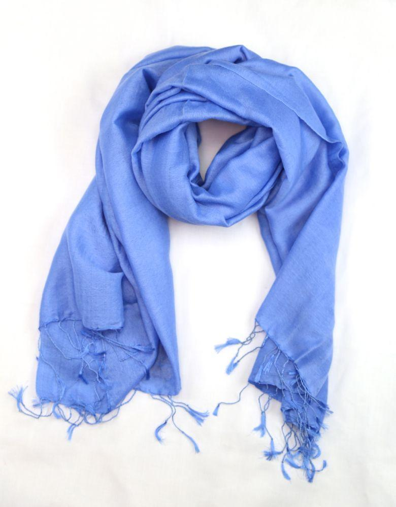 Scarves Default Water Pashmina Shawl in Light Blue fb118