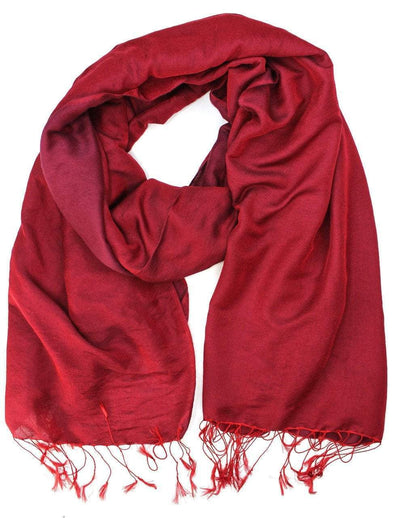 Scarves Default Water Pashmina Shawl in Monk's Robe Red fb089
